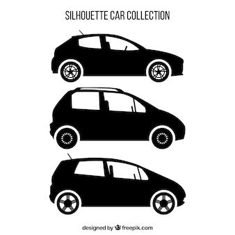 Verscheidenheid van autosilhouetten