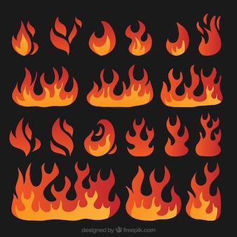 Verscheidenheid van brand