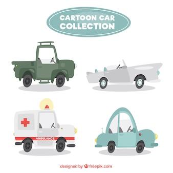 Verscheidenheid van cartoon voertuigen
