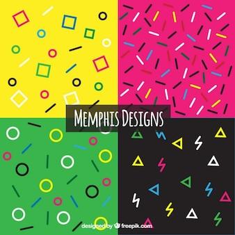 Verscheidenheid van geometrische vormen achtergronden