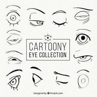 Verscheidenheid van hand getekende ogen