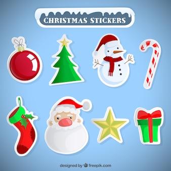 Verscheidenheid van kerst stickers