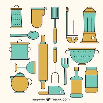 Verscheidenheid van keukengereedschap