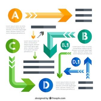 Verscheidenheid van pijlen voor infografie