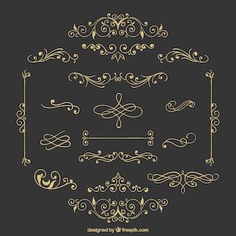 Verscheidenheid van retro ornamenten