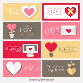Verscheidenheid van romantische labels
