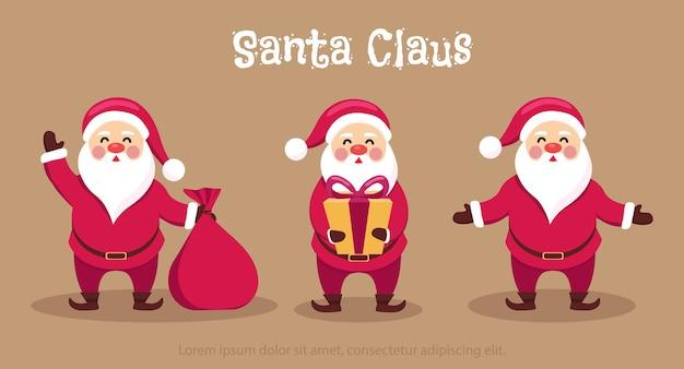 Verscheidenheid van santa stripfiguur