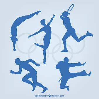 Verscheidenheid van sportieve silhouetten