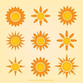 Verscheidenheid van zonnen
