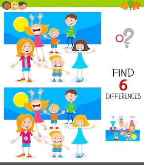 Verschillen educatief spel voor kinderen met kinderen