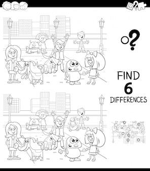 Verschillen educatief spel voor kinderen