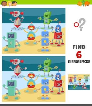 Verschillen spel met fantasie robot karakters
