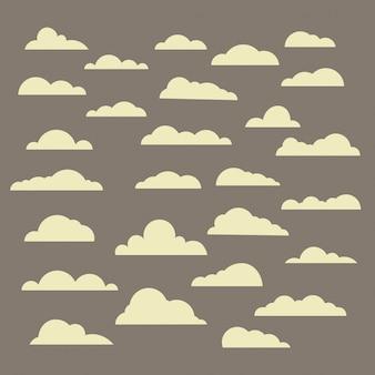 Verschillende abstracte wolken set