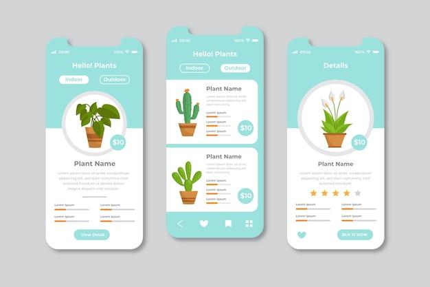 Verschillende app-interfaceconcepten