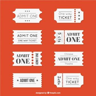 Verschillende bioscoopkaartje collectie