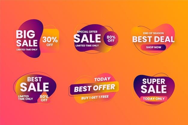 Verschillende collecties verkoopbadges