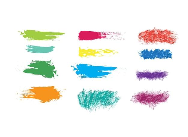 Verschillende creatieve penseelstreken