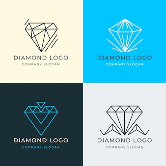 Verschillende diamanten logo set
