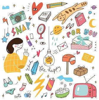 Verschillende doodle set