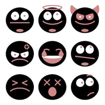 Verschillende emoji-set