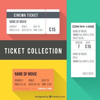 Verschillende fantastische bioscoopkaartjes