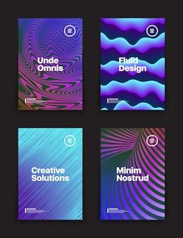 Verschillende flyer templates set
