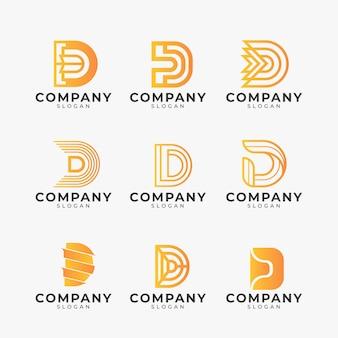 Verschillende gradiënt d-logo's ingesteld