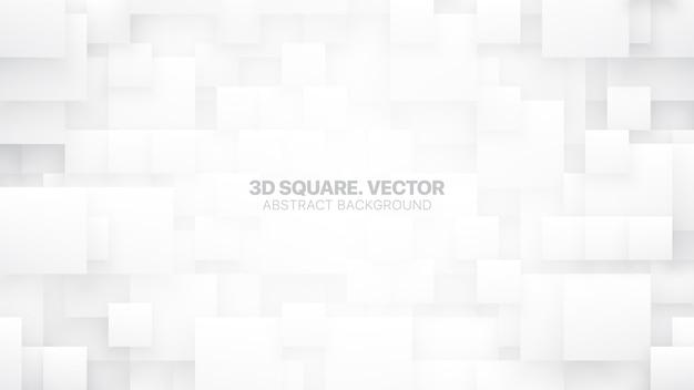 Verschillende grootte vierkante blokken conceptuele technologische witte abstracte achtergrond
