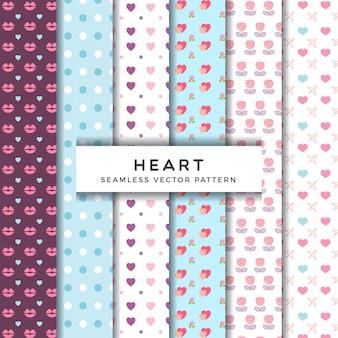 Verschillende hart bloem patroon collectie