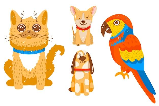 Verschillende huisdierencollectie