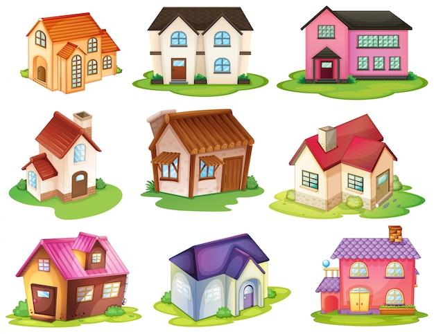 Verschillende huizen