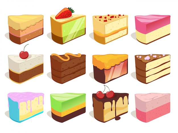 Verschillende ijsjes illustraties. vector naadloos patroon. chocolade en wafel-ijs patroon achtergrond