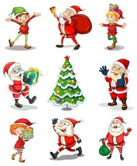Verschillende kerstsjablonen