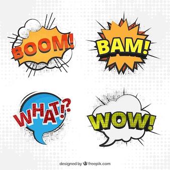 Verschillende klanknabootsing voor comic