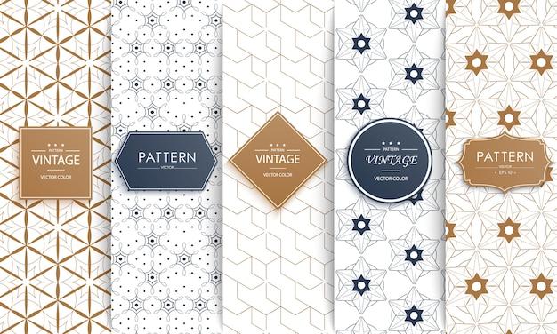 Verschillende klassieke geometrische patronen.