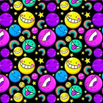 Verschillende kleurrijke emoticons patroon