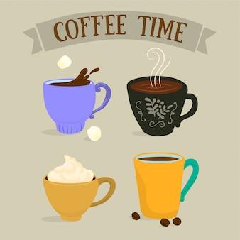 Verschillende koffiekopjes