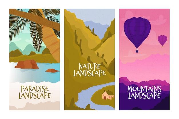 Verschillende landschapscollectie
