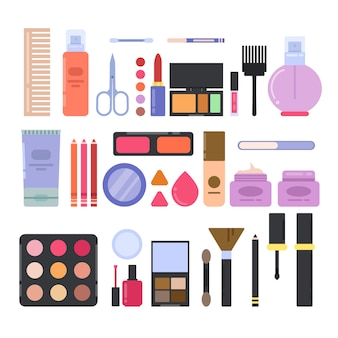 Verschillende make-uptoebehoren voor meisjes en vrouwen.