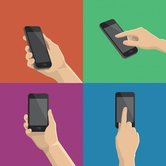 Verschillende manieren om de smartphone te gebruiken