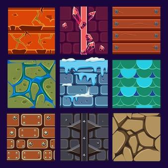 Verschillende materialen en texturen voor het spel