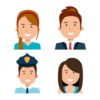 Verschillende mensen avatar pack