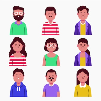 Verschillende mensen avatars collectie