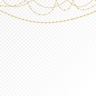 Verschillende modellen en vormen van gouden kralen.