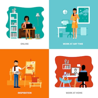 Verschillende mogelijkheden van freelancers ingesteld