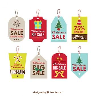Verschillende mooie kerst labels