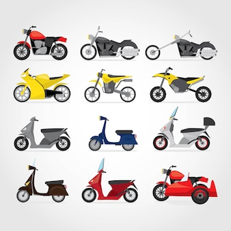 Verschillende motorfiets