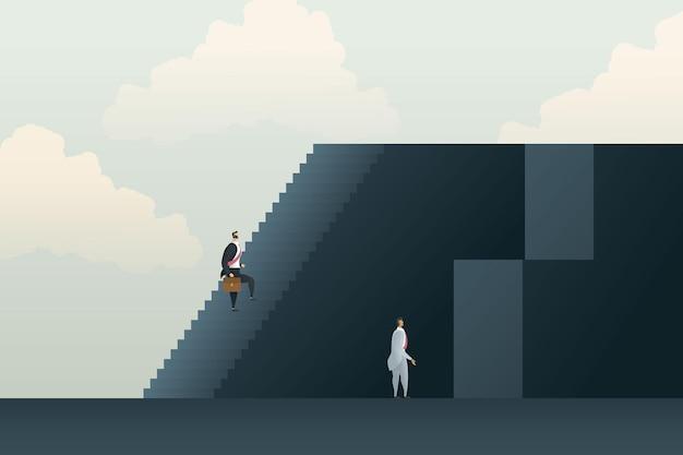 Verschillende ongelijke carrièremogelijkheden loopbaanpad obstakels en uitdagingen
