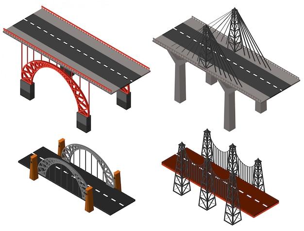 Verschillende ontwerpen van bruggen