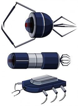Verschillende ontwerpen van nanobots